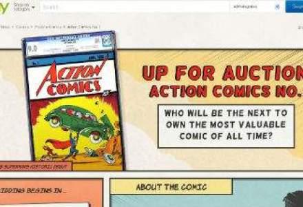 Prima banda desenata cu Superman, vanduta cu suma record de 3,2 milioane de dolari