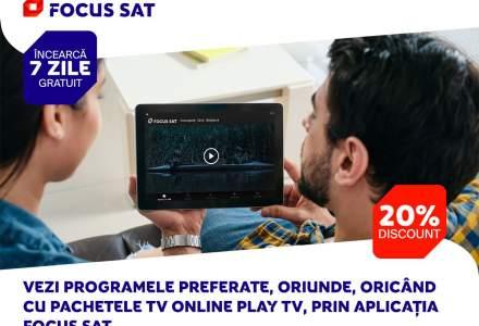(P) Testează 7 zile gratuit pachetele TV online Play TV de la Focus Sat