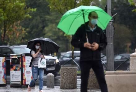 ALERTĂ ANM: Cod galben de ploi în mai multe județe din țară și în București