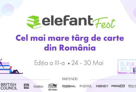 (P) elefantFest, cel mai mare târg de carte, așteaptă cel puțin 1,5 milioane de vizitatori online în săptămâna 24-30 mai. Marea Britanie este invitat special.