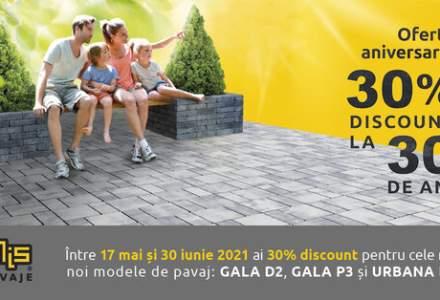 (P) Ofertă aniversară Elis Pavaje: 30% discount la 30 de ani