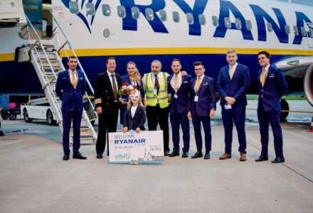 Ryanair a lansat primul său zbor de pe Aeroportul din Sibiu