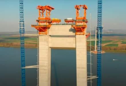 VIDEO | În ce stadiu sunt lucrările la Podul de la Brăila