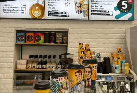 Rețeaua 5 to go a deschis prima cafenea în străinătate
