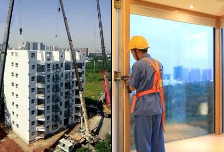 VIDEO | Un bloc de 10 etaje ridicat într-o singură zi!