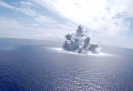 VIDEO | Americanii testează rezistența unei nave detonând 18 tone de explozibil