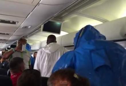 Alerta cu Ebola! Un avion a fost tinut la sol o ora din cauza unei alarme false [VIDEO]