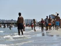 Plaja lărgită din Mamaia a...