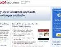 Yahoo va inchide GeoCities,...