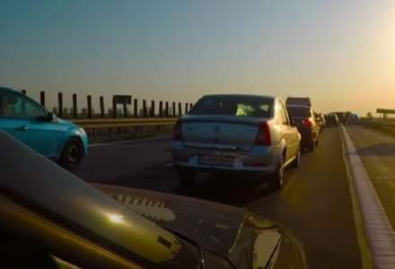 Cozi uriașe de mașini pe Autostrada Soarelui. Se merge bară la bară până la mare