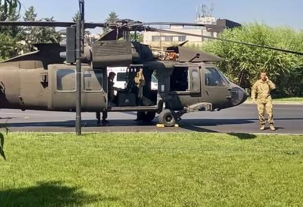 Un elicopter al armatei SUA a aterizat forțat lângă Arcul de Triumf din București