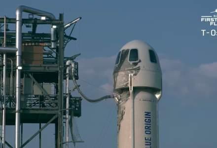 Jeff Bezos, cel mai bogat om de pe planetă, a decolat spre spaţiu la bordul rachetei New Shepard