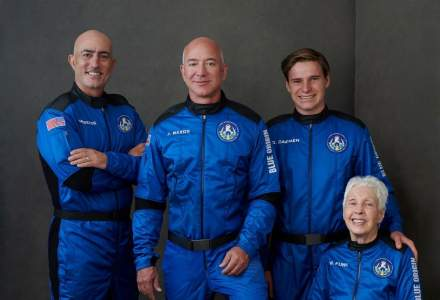 Mesajul lui Jeff Bezos, după călătoria în spațiu: Terra este un mic obiect fragil