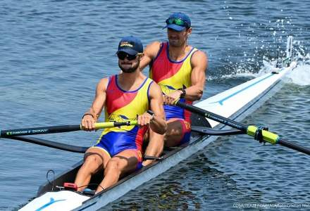 Canotaj: România a cucerit argintul la dublu rame masculin