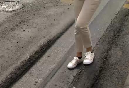 Efectele caniculei în București: asfalt distrus pe marile bulevarde