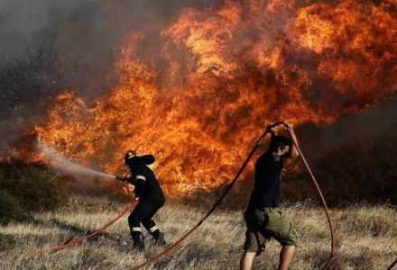 Un avion care ajuta la stingerea incendiilor din Grecia s-a prăbușit