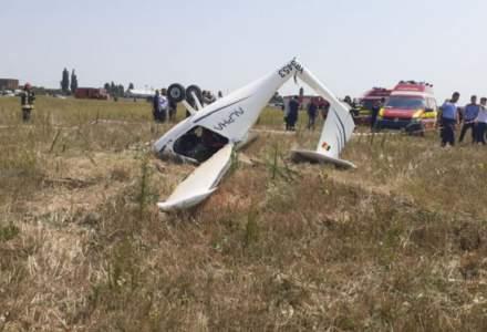 Avion prăbușit în Ilfov. Două persoane sunt rănite