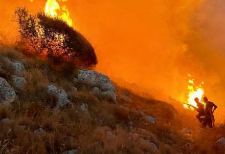 Incendii puternice în Italia, în apropiere de Roma