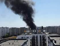 Incendiu la terasa unui...