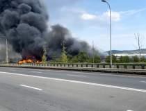 VIDEO   Incendiu de proporții...