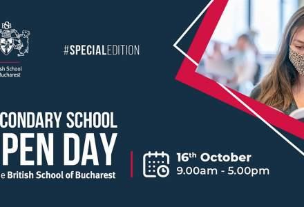 British School of Bucharest organizează Ziua Porților Deschise pentru Școala Secundară