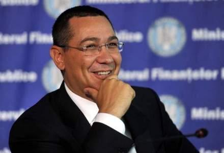 Ponta: Scaderile de bugete se explica prin reducerea CAS si plata titlurilor executorii
