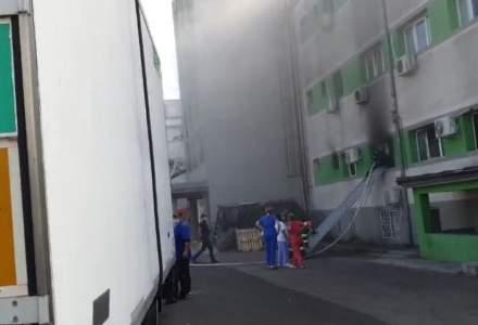 Incendiu violent la Spitalul de Boli Infecțioase Constanța