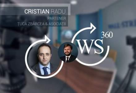 Cristian Radu (Tuca Zbarcea si Asociatii), discuta la WALL-STREET 360 despre domeniile vedeta din M&A