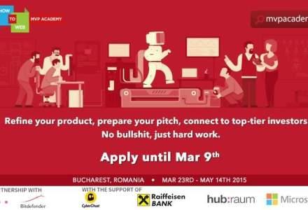 (P) Ultima zi in care startup-urile tech pot aplica la programul de pre-accelerare MVP Academy