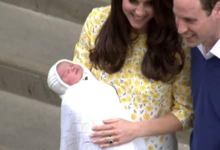 Primele imagini cu fiica printului William si a ducesei de Cambridge