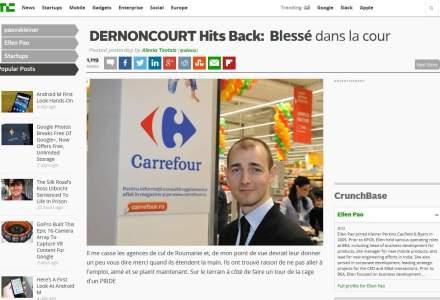 Pitchul Carrefour inca face valuri: mesaj fals al lui Dernoncourt pe o pagina clona a TechCrunch