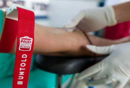 """Pay with blood"", campania Untold a strans aproape 1.000 de donatori"