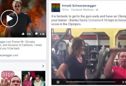 Arnold Schwarzenergger, antrenat de Nadia Comaneci (VIDEO)