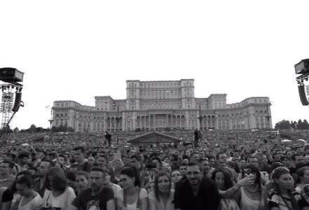 Robbie Williams a postat pe Facebook imagini spectaculoase de la Bucuresti