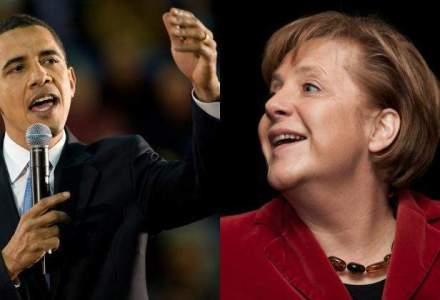Obama si Merkel au discutat despre intensificarea violentelor in Ucraina si criza imigrantilor