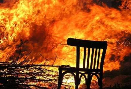 Zeci de hectare de vegetatie au ars in zona plajei de la Vadu, in Rezervatia Biosfera Delta Dunarii
