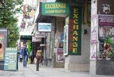 Jaf la o casa de schimb valutar din Capitala