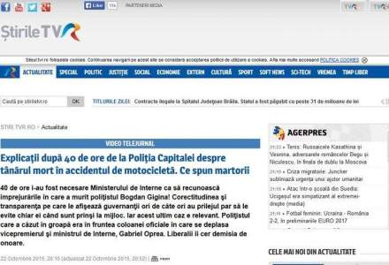 TVR, acuzat ca a musamalizat cazul unui alt politist lovit in timp ce il insotea pe Gabriel Oprea: Nu a fost un accident grav