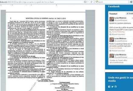 Ponta a schimbat legea coloanelor oficiale