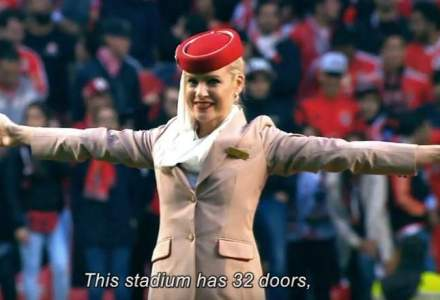Emirates reuseste sa atraga atentia a 65.000 de spectatori pe un teren de fotbal