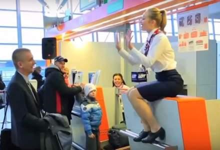 LOT a celebrat 500.000 de pasageri la bordul Boeing 787 cu un flash mob