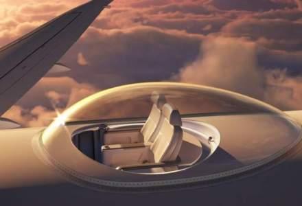"""Scaunele viitorului te vor """"scoate pe acoperisul avionului"""" in timpul zborului"""