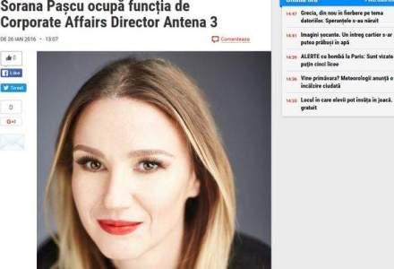 Sorana Pascu, fiica lui Ioan Mircea Pascu, a fost numita corporate affairs director la Antena 3
