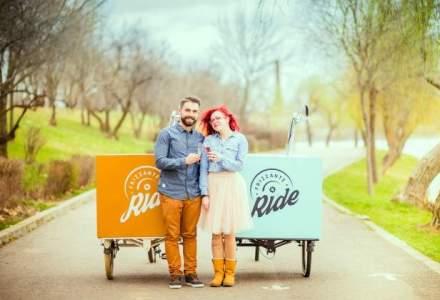 Doi tineri au lansat cu 10.000 de euro o afacere pe trei roti: ce au in comun vinul si tricicleta