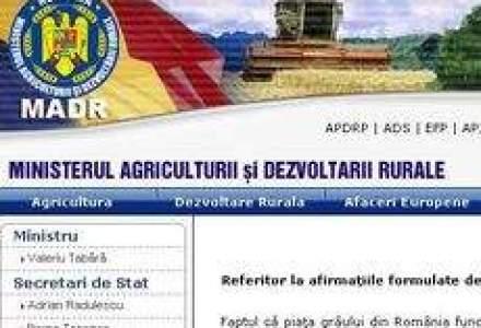 Agricultura: Romania nu poate aplica masuri protectioniste pe piata graului