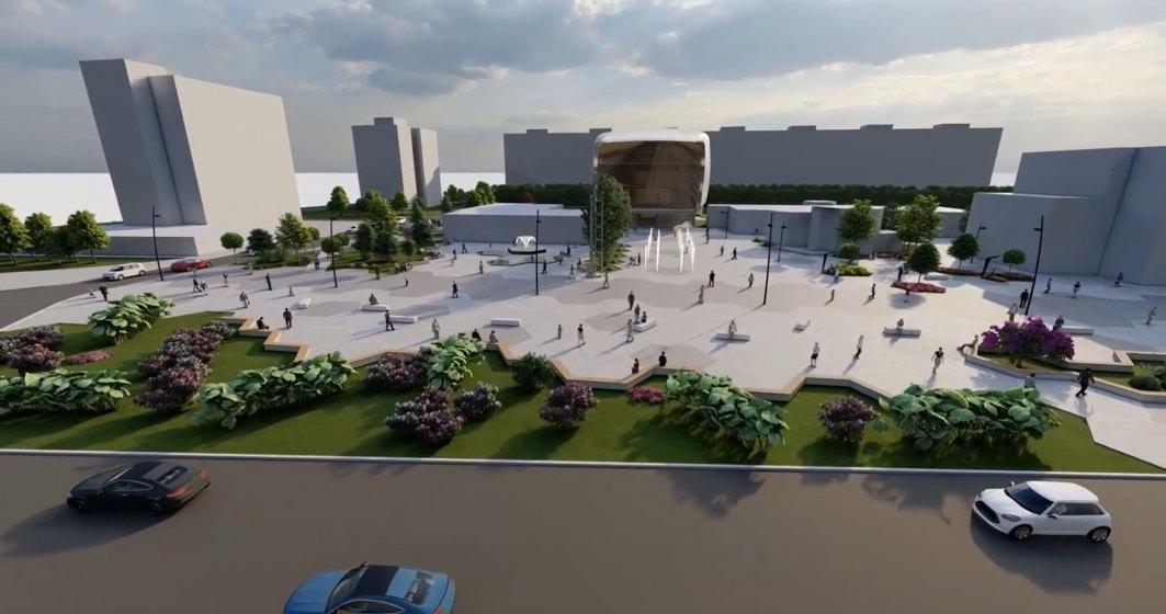 VIDEO | Piațeta Favorit din Sectorul 6 prinde contur: cum arată prima versiune a proiectului