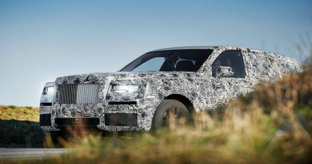 Primul SUV Rolls-Royce va iesi pe piata in 2018