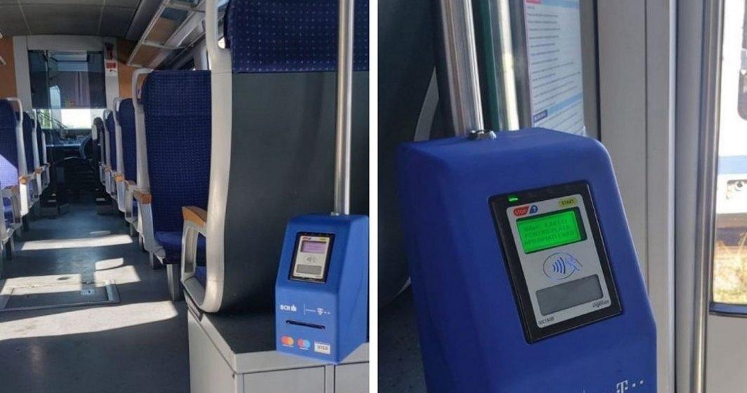 CFR Călători introduce plata cu cardul a biletului în tren: parteneriat cu BCR