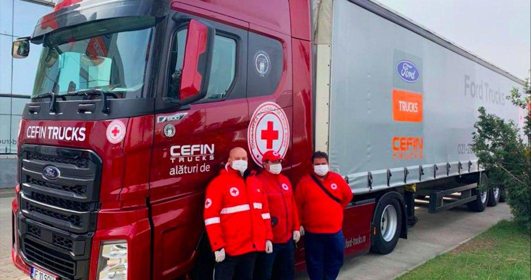 Cefin Trucks pune la dispoziti e un camion Ford pentru a transporta echipamente medicale si donatii