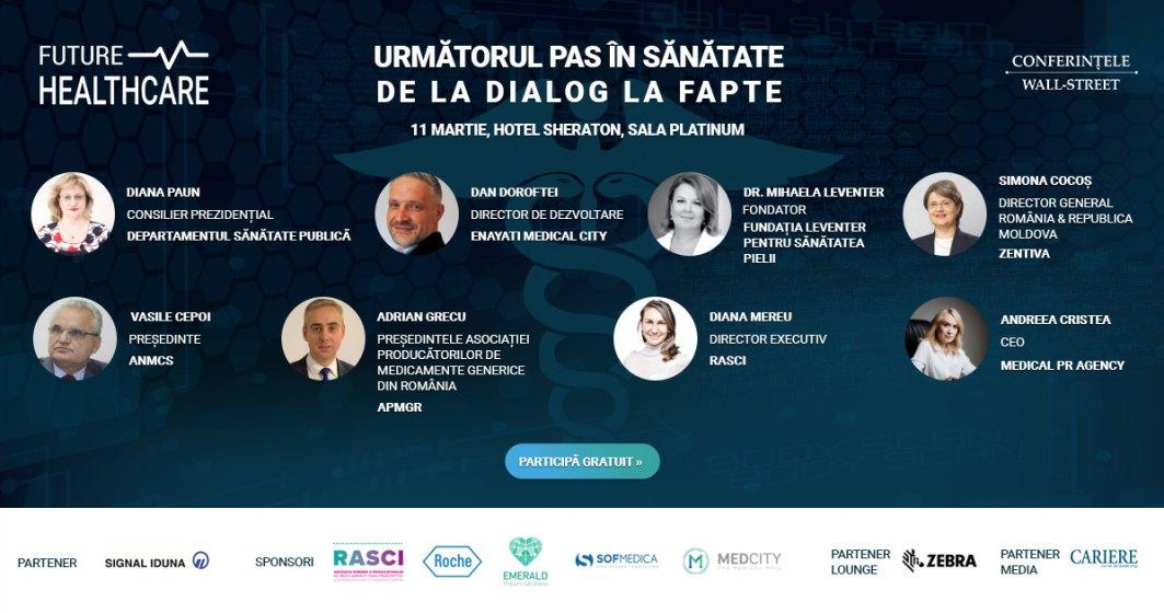 Wall-Street.ro organizează cea de-a treia ediție a conferinței Future Healthcare: Următorul pas în sănătate. De la dialog la fapte